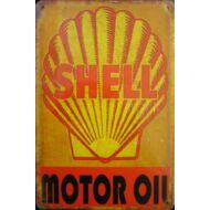 Retro fémtábla 20x30 kép SHELL Motor Oil