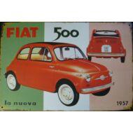 Retro fémtábla 30x20 kép Fiat 500