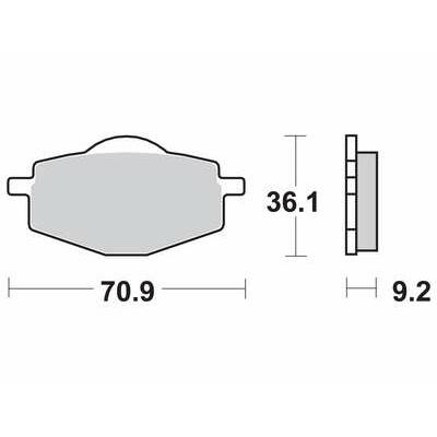 Fékbetét Brenta FT3085 /FDB383