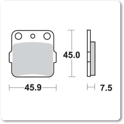 Fékbetét Brenta FT3106 /FDB381