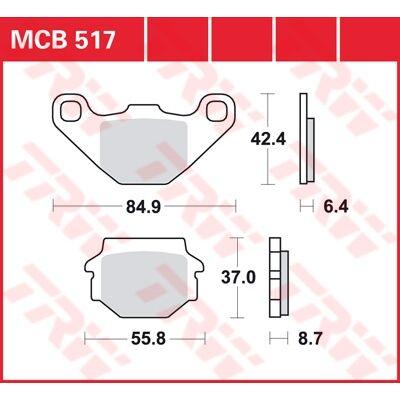 Fékbetét TRW Lucas MCB517