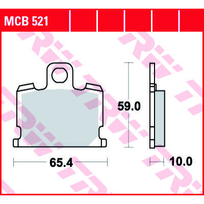 Fékbetét TRW Lucas MCB521
