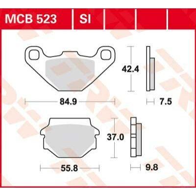 Fékbetét TRW Lucas MCB523SI