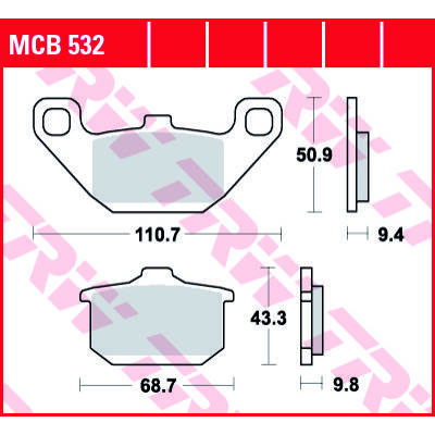 Fékbetét TRW Lucas MCB532