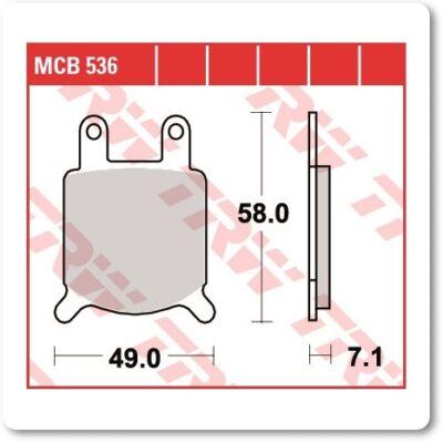 Fékbetét TRW Lucas MCB536