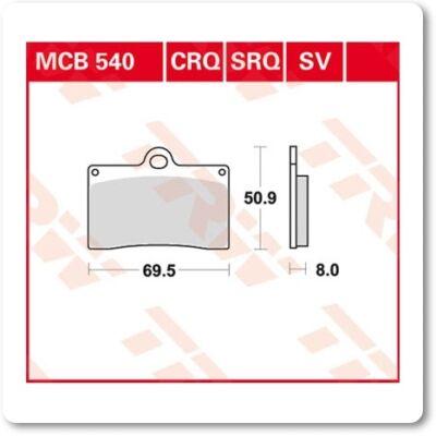 Fékbetét TRW Lucas MCB540SV