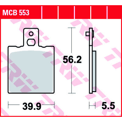 Fékbetét TRW Lucas MCB553