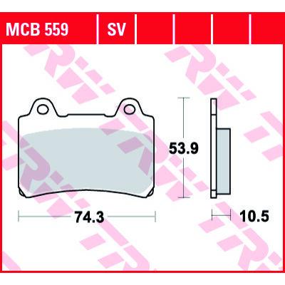 Fékbetét TRW Lucas MCB559