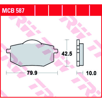Fékbetét TRW Lucas MCB587