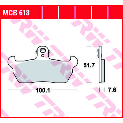 Fékbetét TRW Lucas MCB618