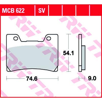 Fékbetét TRW Lucas MCB622SV