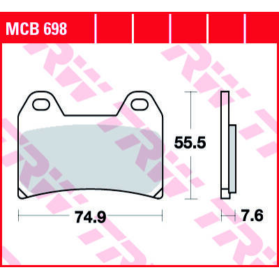 Fékbetét TRW Lucas MCB698