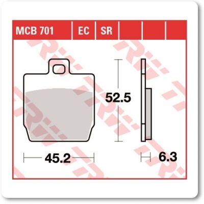 Fékbetét TRW Lucas MCB701