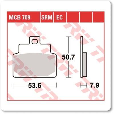 Fékbetét TRW Lucas MCB709