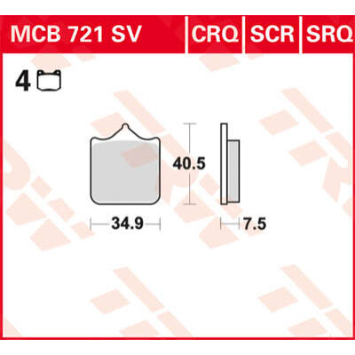 Fékbetét TRW Lucas MCB721SV