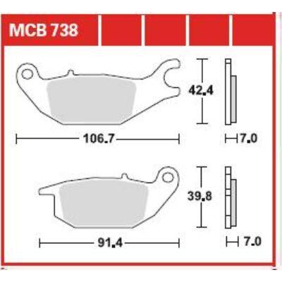 Fékbetét TRW Lucas MCB738 /FDB2143