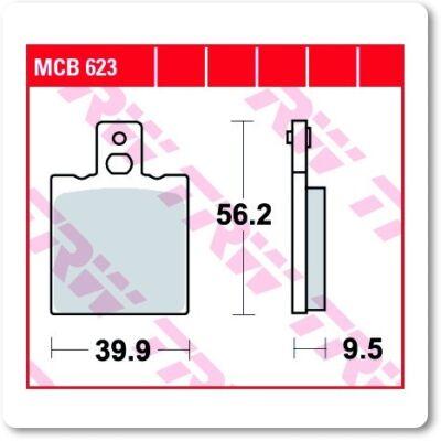 Fékbetét TRW Lucas MCB623