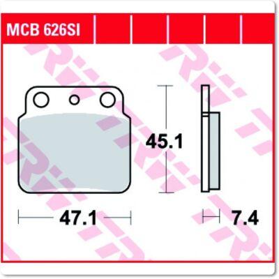 Fékbetét TRW Lucas MCB626SI