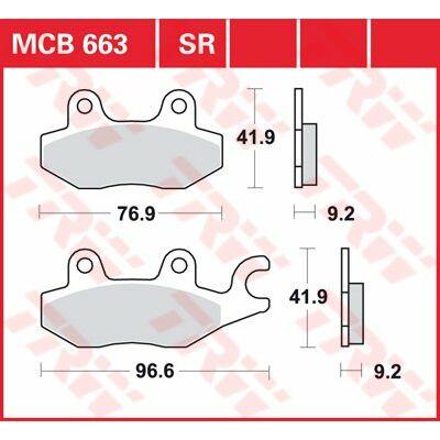 Fékbetét TRW Lucas MCB663