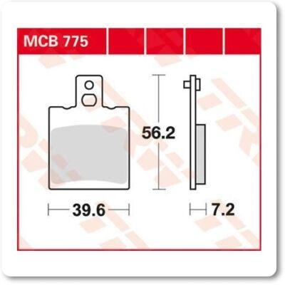 Fékbetét TRW Lucas MCB775