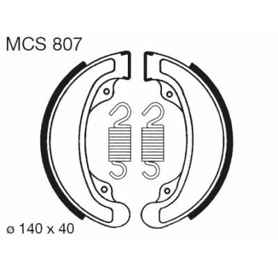 Fékbetét TRW Lucas MCS807 /FSB708
