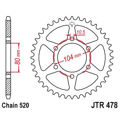 Lénckerék JTR478.46 hátsó