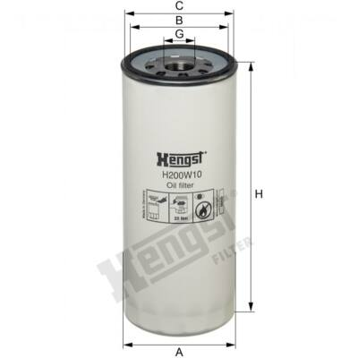Hengst olajszűrő H200W10