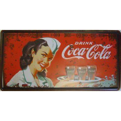 Retro fémtábla kép Coca Cola 3D dombornyomású