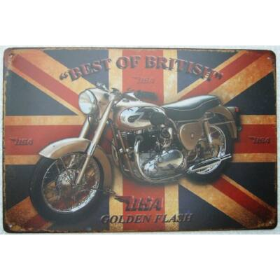 "Retro fémtábla 30x20 kép BSA ""Best Of British"""