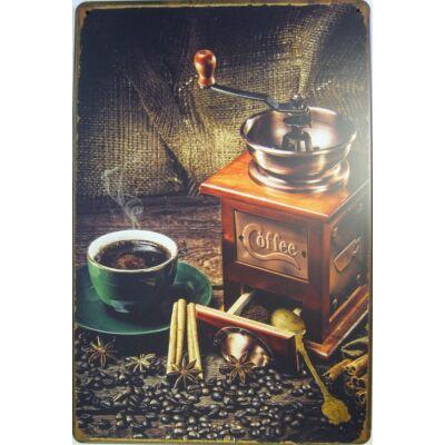 Retro fémtábla kép Caffe