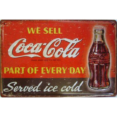 Retro fémtábla kép Coca Cola We Sell 3D dombornyomott