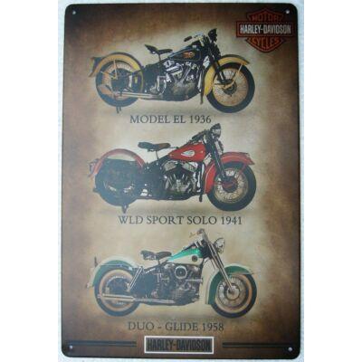 Retro fémtábla kép Harley Davidson