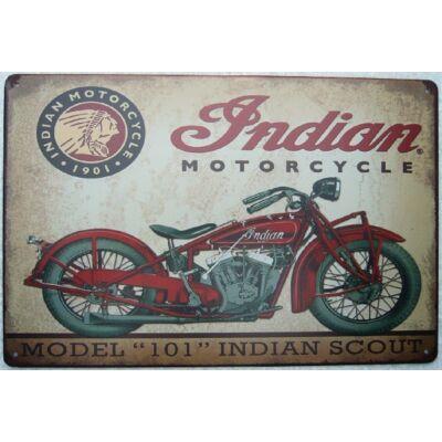 Retro fémtábla kép Indian model 101 3D