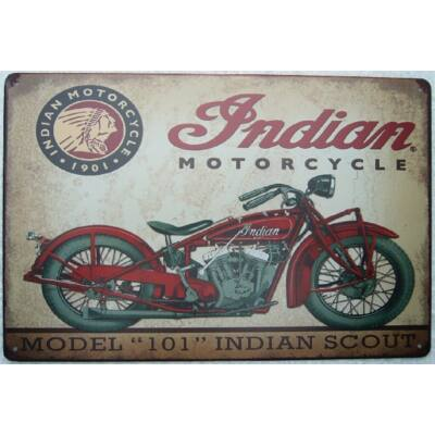 fémtábla 30x20 Indian model 101