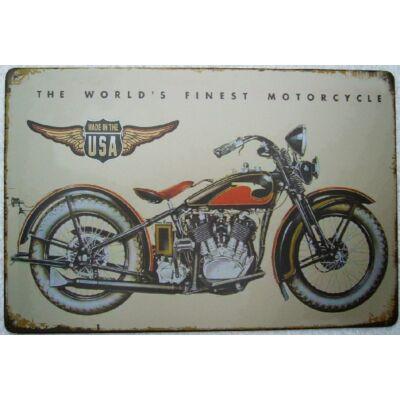 Retro fémtábla 30x20 kép the world finest motorcycle