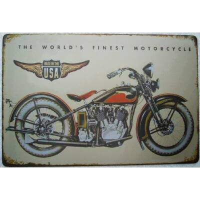 Retro fémtábla 30x20 kép the world finest motorcycle