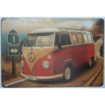 Retro fémtábla 30x20 kép VW Cali1 California