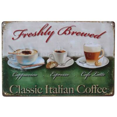 Retro fémtábla kép Italian Coffee