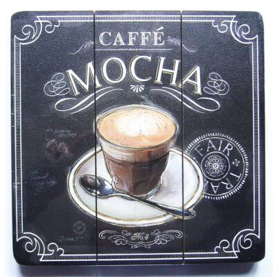 Falikép fa Caffé Mocha