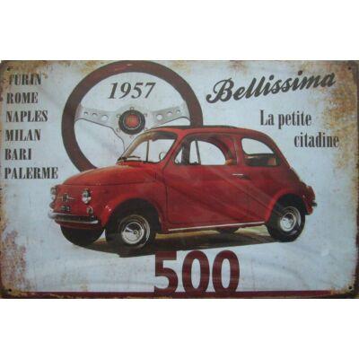 Retro fémtábla 30x20 kép Fiat 500 1957