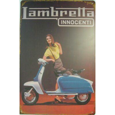 Retro fémtábla kép Lambretta