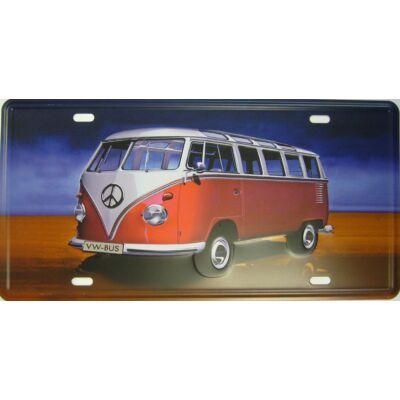 Retro fémtábla 30x15 kép VW bus T2