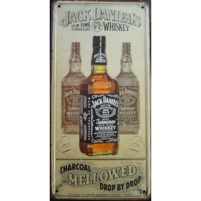 Retro fémtábla 15x30 kép Jack Daniels 3D