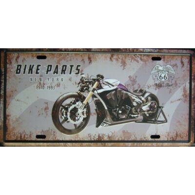 Retro fémtábla 30x15 kép Bike parts lil 3D dombornyomású