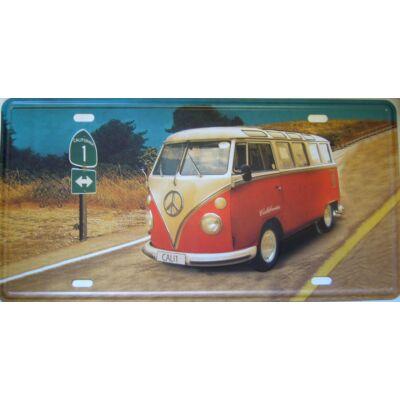 Retro fémtábla 30x15 kép VW Cali 1 California