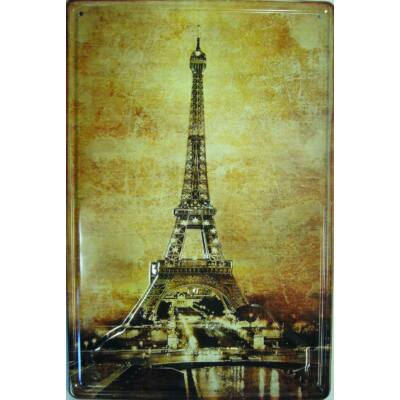 fémtábla 20x30 esti Eiffel torony 3D