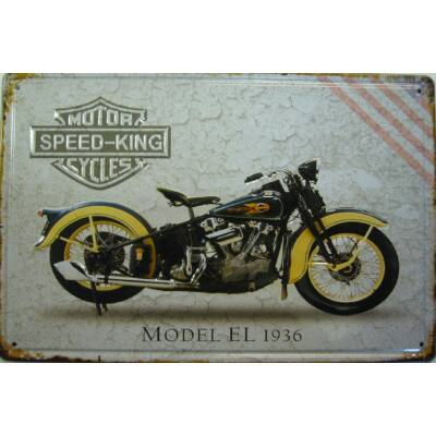 Retro fémtábla 30x20 kép Speed King EL 1936 3D