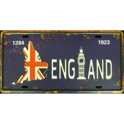 Retro fémtábla 30x15 kép England 1903 3D dombornyomású