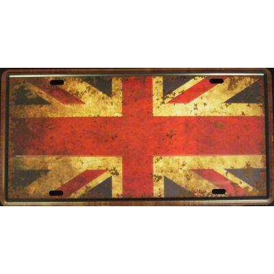 Retro fémtábla 30x15 kép British Flag 3D dombornyomású