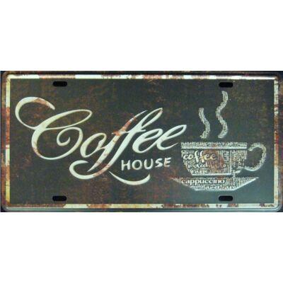 fémtábla 30x15 Coffee Hause